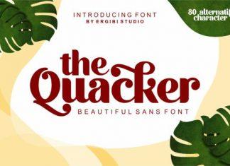 Quacker Font