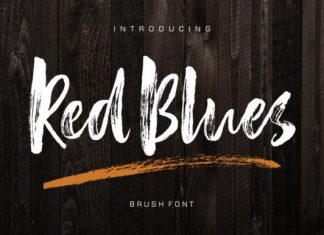 Red Blues Font