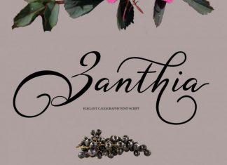 Zanthia Script Font