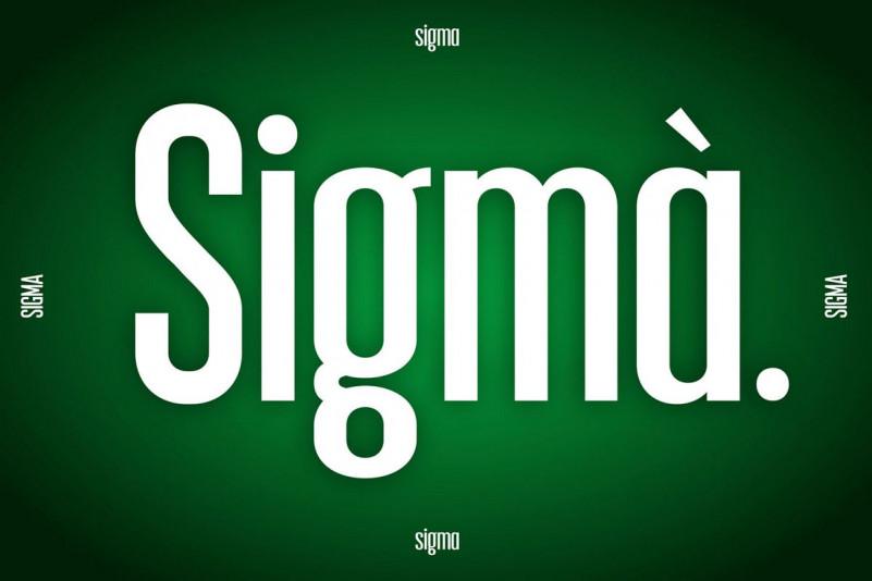Sigma Display FontRegular Font