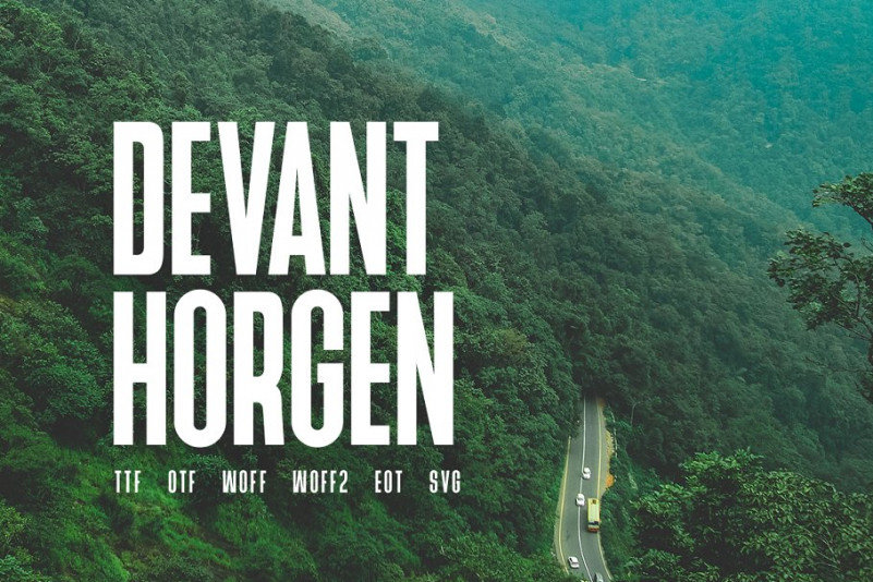 Devant Horgen Font