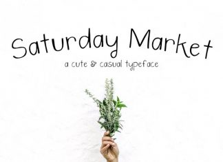 Saturday Market Font