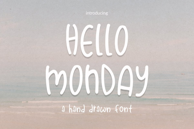 Hello Monday Hand Drawn Font