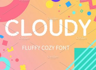 CLOUDY display font