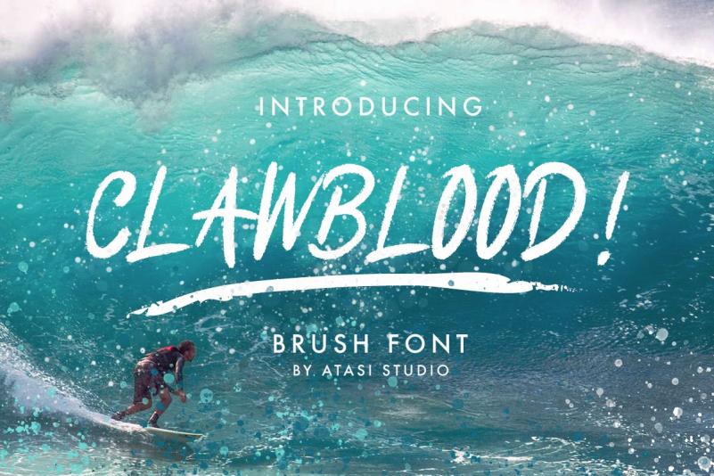 Clawblood Brush Font