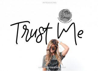 Trust me | Handwritten Font