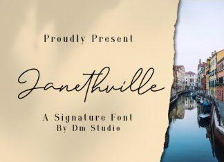 JanethVille - A Signature Font