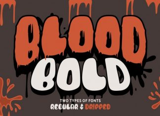 Blood Bold Fun Halloween Two Fonts