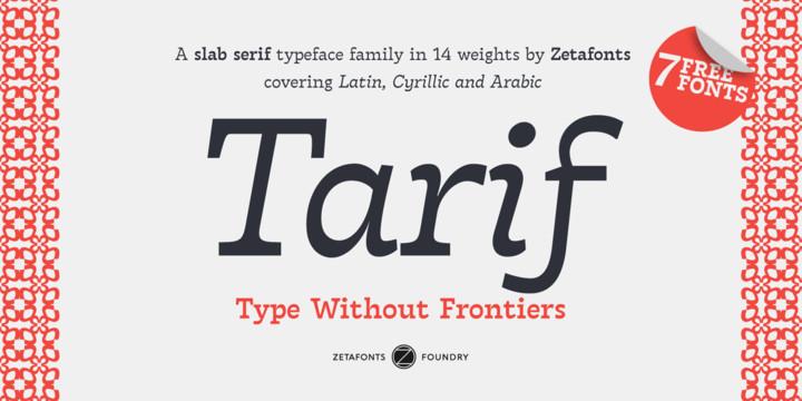 Tarif Font Family