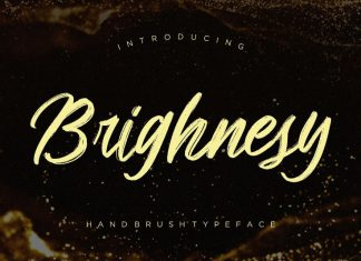 Brighnesy Hand Font