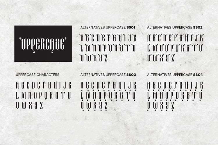 Cameo Sweet Gothic Font