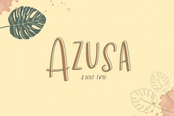 Azusa Sans Trio Font