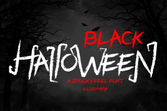 Black Halloween Font