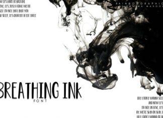 Breathing Ink Font