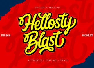 Hellosty Blast Font
