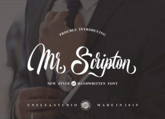 Mr. Scripton Font