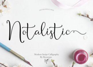 Notalistic Font