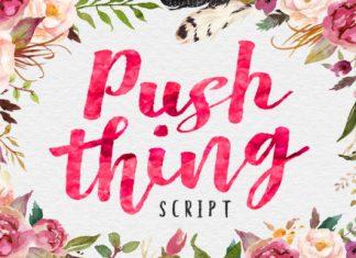Push Thing Font