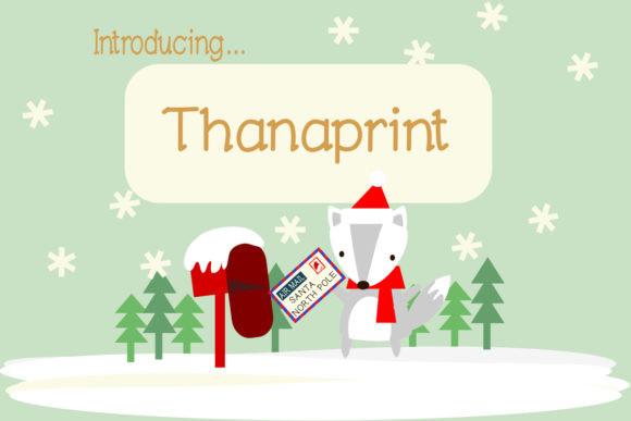 Thanaprint Font