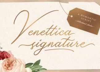 Venettica Signature Romantic Font