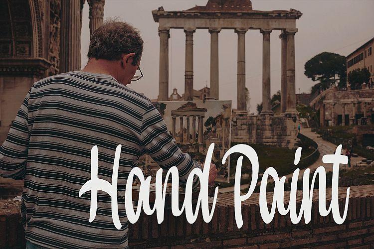 Hand Paint Font