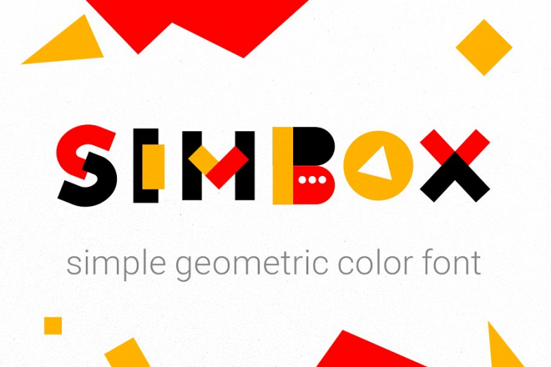 Simbox the color geometric font