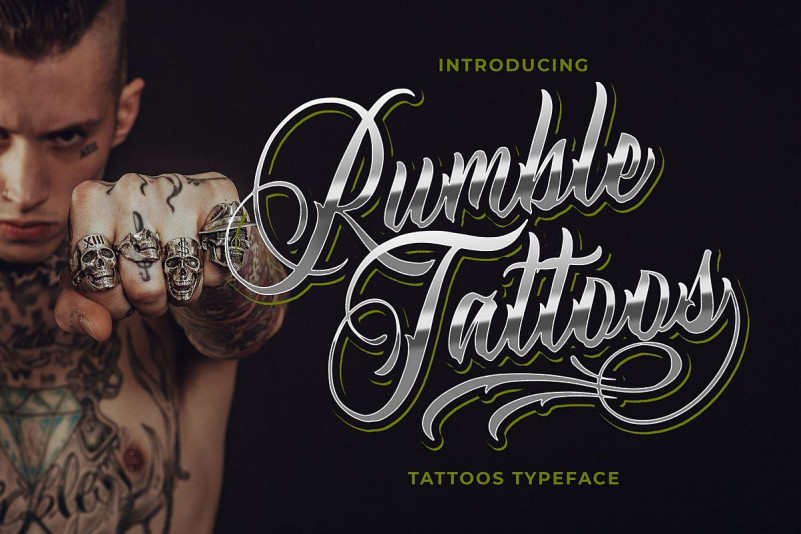 Rumble Tattoos Font