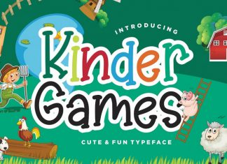 Kinder Games Cute & Fun Font