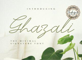 Ghazali The Minimal Signature Font