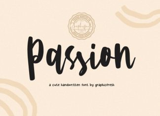 Passion A Cute Font