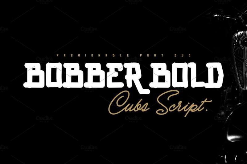 BOBBER BOLD & Cubs Font