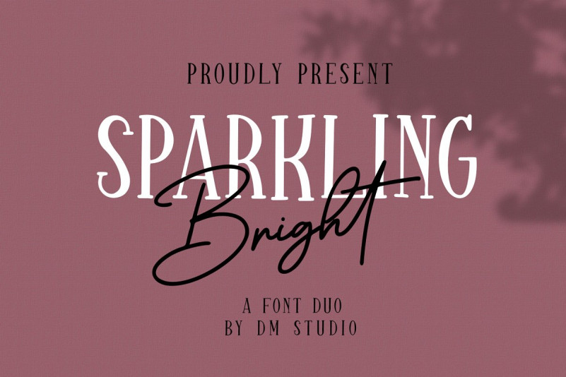 Sparkling Bright - Beauty Font