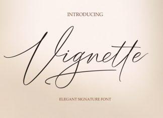 Vignette Signature Font