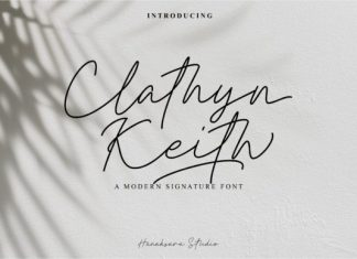 Clathyn Keith Signature Font