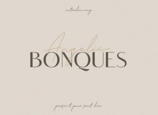 Angelic Bonques Trio Font