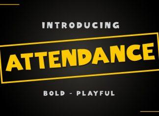 Attendance Font