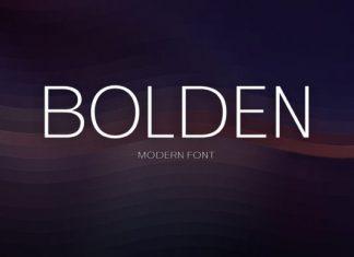 Bolden Font