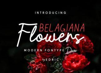 Belagiana Flowers Duo Font