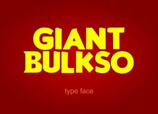 Giant Bulsko Font