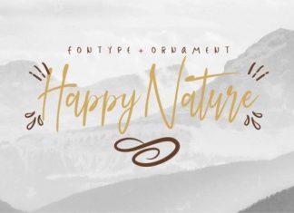 Happy Nature Font