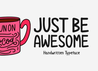 Just Be Awesome Font