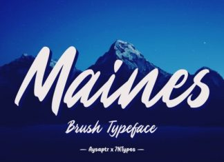 Maines Font