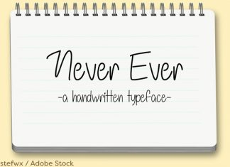 Never Ever Font