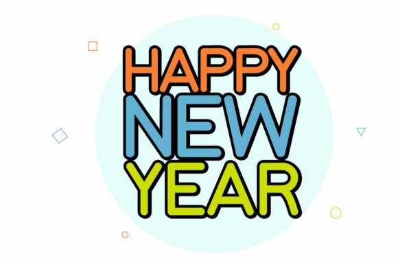 Happy New Year Font 38
