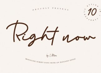 Right Now Font