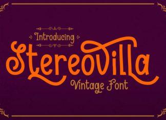 Stereovilla Font