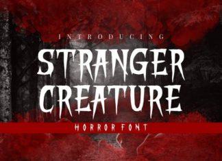 Stranger Creature Font