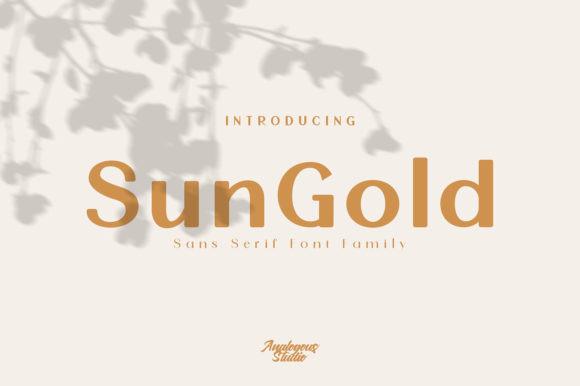 Sun Gold Font