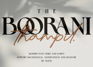The Boorani Thampil Duo Font
