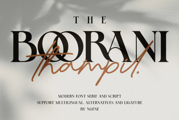 The Boorani Thampil Duo Font